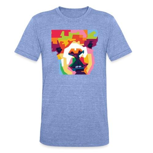 Alpaka WPAP Design - Unisex Tri-Blend T-Shirt von Bella + Canvas