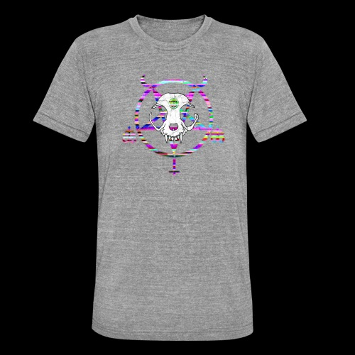 glitch cat - T-shirt chiné Bella + Canvas Unisexe