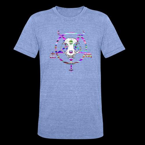 glitch cat - T-shirt chiné Bella + Canvas Unisexe