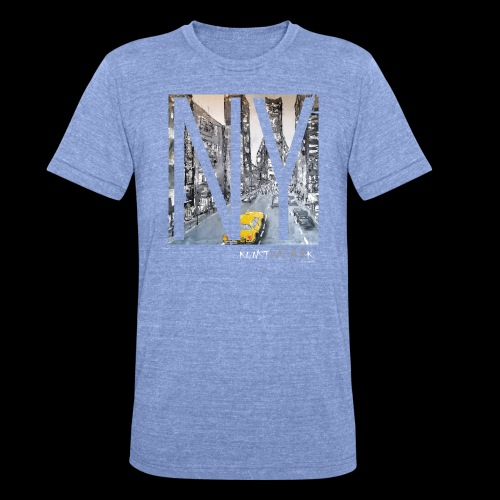 TIME SQUARE - Unisex Tri-Blend T-Shirt von Bella + Canvas