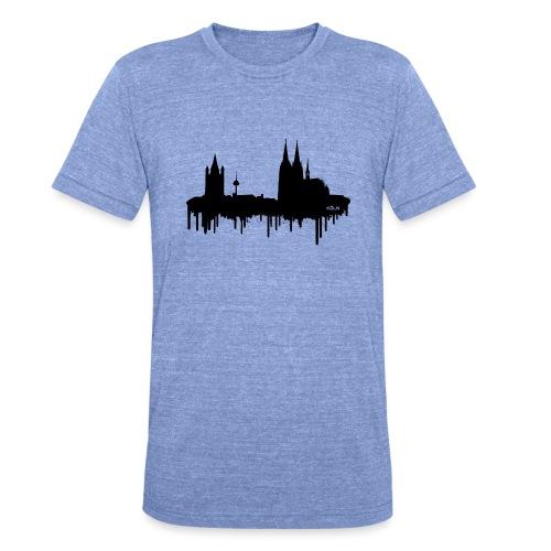 Skyline Köln - Schwarz - Unisex Tri-Blend T-Shirt von Bella + Canvas