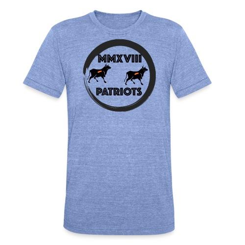 Patriots mmxviii - Camiseta Tri-Blend unisex de Bella + Canvas