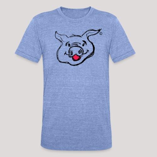 PIGGY Black - Unisex Tri-Blend T-Shirt by Bella & Canvas