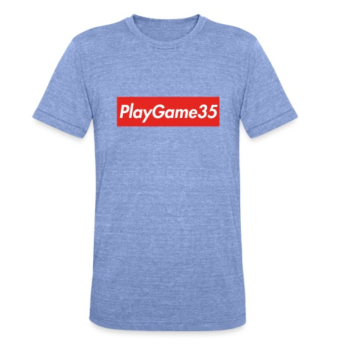 PlayGame35 - Maglietta unisex tri-blend di Bella + Canvas