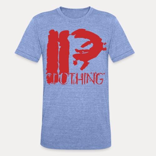 IRON PSYCHO LOGO ORIGINAL-RED - Unisex Tri-Blend T-Shirt by Bella & Canvas