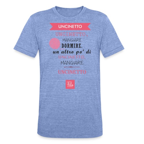 Uncinetto quotidiano - Maglietta unisex tri-blend di Bella + Canvas