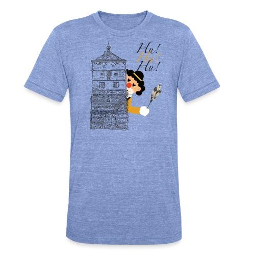 Hu! Hu! Hu! Schwarzgelber Clown am Schwarzen Tor - Unisex Tri-Blend T-Shirt von Bella + Canvas