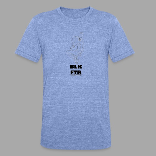 BLK FTR N°7 - Maglietta unisex tri-blend di Bella + Canvas