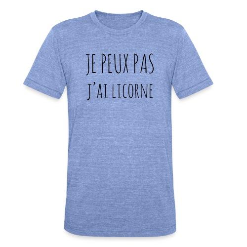 Je peux pas j'ai Licorne - T-shirt chiné Bella + Canvas Unisexe