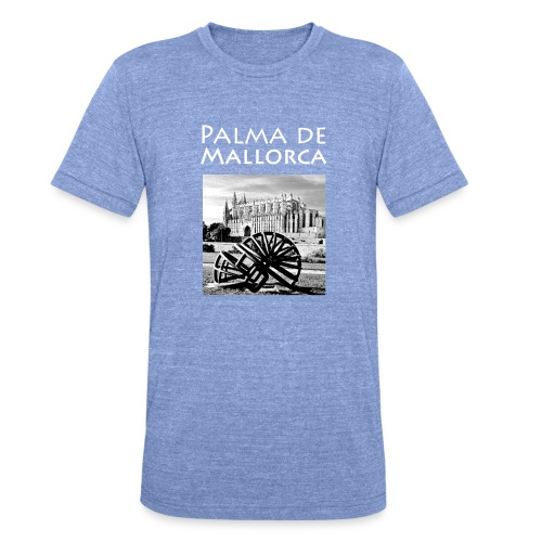 Palma de Mallorca mit Cathedrale Heiligen Maria - Unisex Tri-Blend T-Shirt von Bella + Canvas