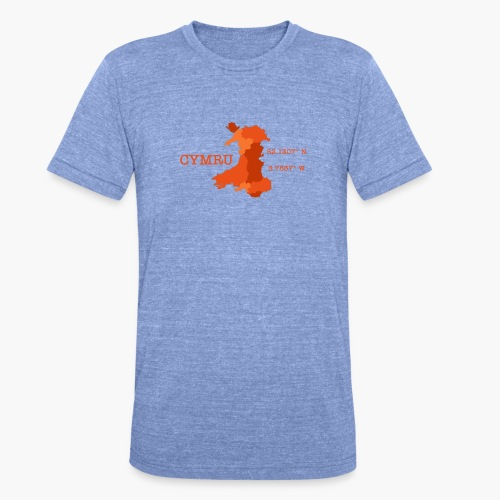 Cymru - Latitude / Longitude - Unisex Tri-Blend T-Shirt by Bella & Canvas