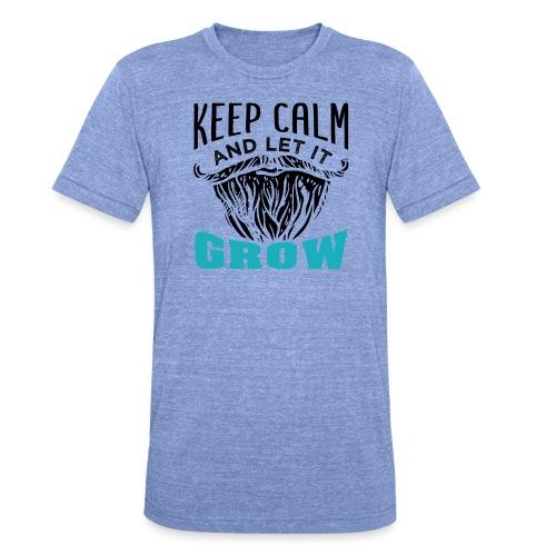 Beard Keep Calm And Let It Grow - Unisex Tri-Blend T-Shirt von Bella + Canvas