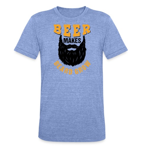 Beer Makes Beard Grow Funny Gift - Unisex Tri-Blend T-Shirt von Bella + Canvas