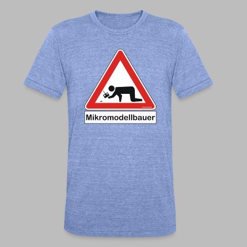 Warnschild Mikromodellbauer Auto - Unisex Tri-Blend T-Shirt von Bella + Canvas
