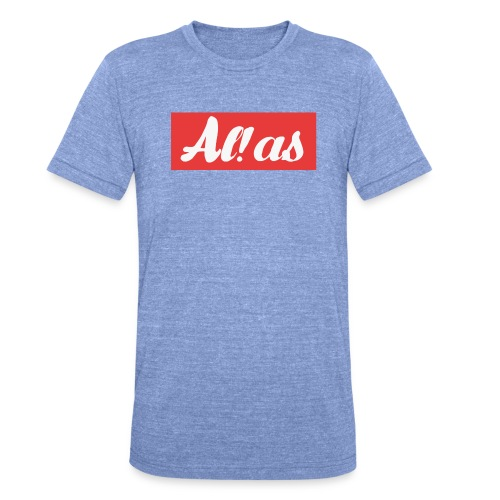 Al!as - Unisex tri-blend T-shirt fra Bella + Canvas