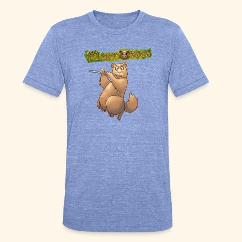 Tshirt Flute devant 2 - T-shirt chiné Bella + Canvas Unisexe