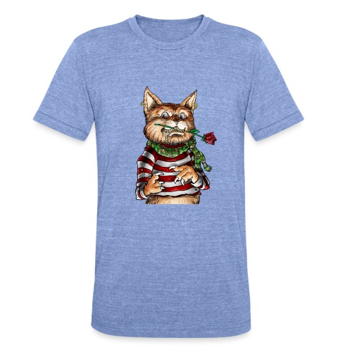T-shirt - Crazy Cat - T-shirt chiné Bella + Canvas Unisexe