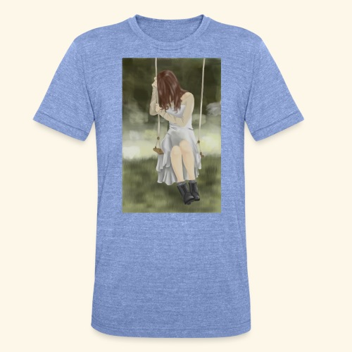 Sad Girl on Swing - Unisex Tri-Blend T-Shirt by Bella & Canvas