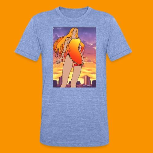 Lady Sunset - T-shirt chiné Bella + Canvas Unisexe