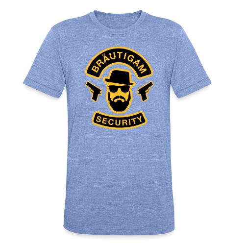 Bräutigam Security - JGA T-Shirt - Bräutigam Shirt - Unisex Tri-Blend T-Shirt von Bella + Canvas