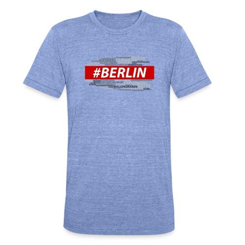 Hashtag Berlin - Unisex Tri-Blend T-Shirt von Bella + Canvas