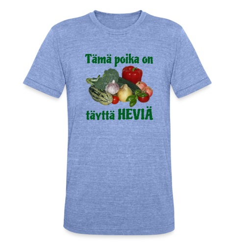 Poika täyttä heviä - Bella + Canvasin unisex Tri-Blend t-paita.