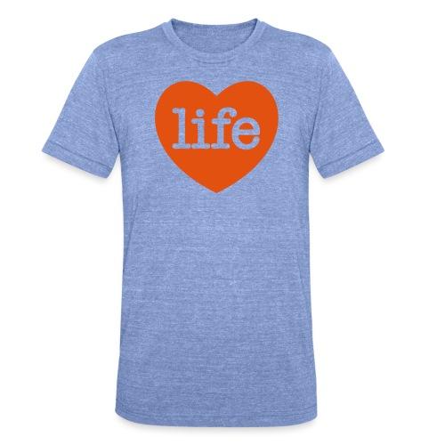 LOVE LIFE heart - Unisex Tri-Blend T-Shirt by Bella + Canvas