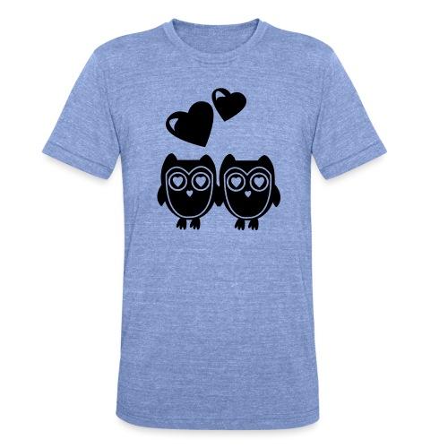 verliebte Eulen - Unisex Tri-Blend T-Shirt von Bella + Canvas