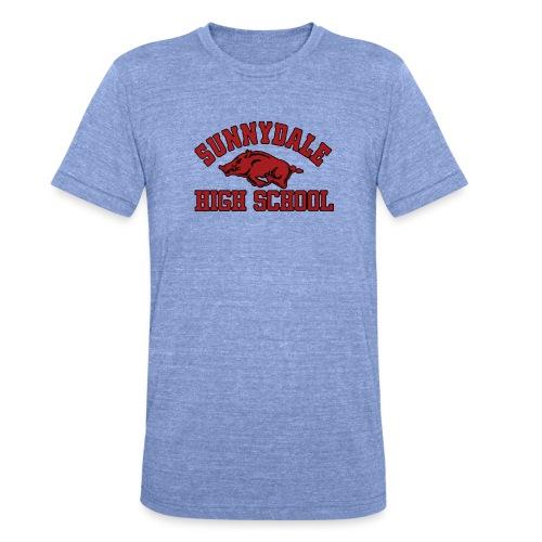 Sunnydale High School logo merch - Unisex tri-blend T-shirt van Bella + Canvas
