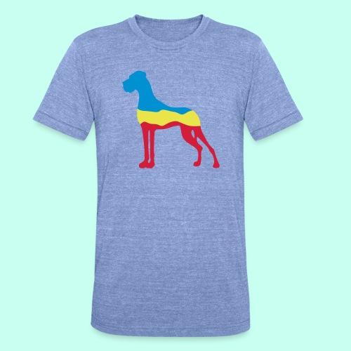 Flaggen Dogge - Unisex Tri-Blend T-Shirt von Bella + Canvas