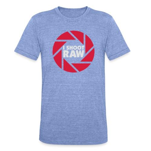 I shoot RAW - weiß - Unisex Tri-Blend T-Shirt von Bella + Canvas
