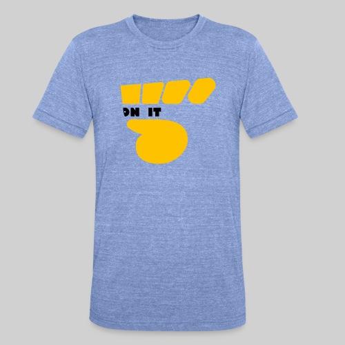 Logo 5 on It jaune / noir - T-shirt chiné Bella + Canvas Unisexe