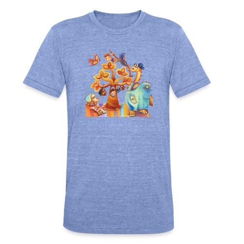 Dinosauro buono - Maglietta unisex tri-blend di Bella + Canvas