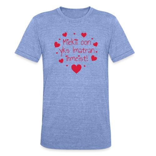 Miekii oon yks Imatran ihmeist! Naisten paita - Bella + Canvasin unisex Tri-Blend t-paita.