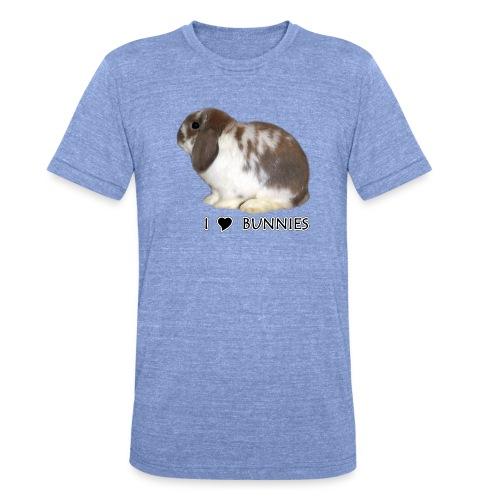 I Love Bunnies Luppis - Bella + Canvasin unisex Tri-Blend t-paita.
