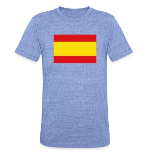 vlag van spanje - Unisex tri-blend T-shirt van Bella + Canvas