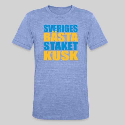 Sveriges bästa staketkusk! - Triblend-T-shirt unisex från Bella + Canvas