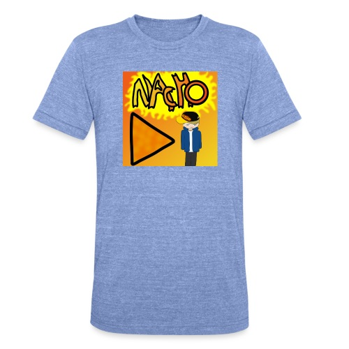 Nacho Title with Little guy - Unisex Tri-Blend T-Shirt by Bella & Canvas