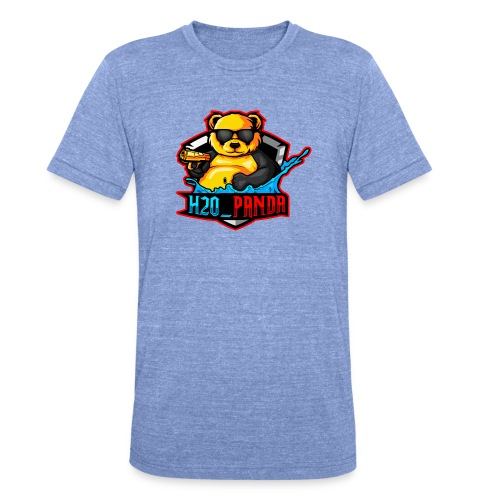 Pandas Loga - Triblend-T-shirt unisex från Bella + Canvas