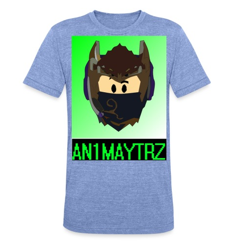 AN1MAYTRZ logo + title - Unisex Tri-Blend T-Shirt by Bella & Canvas