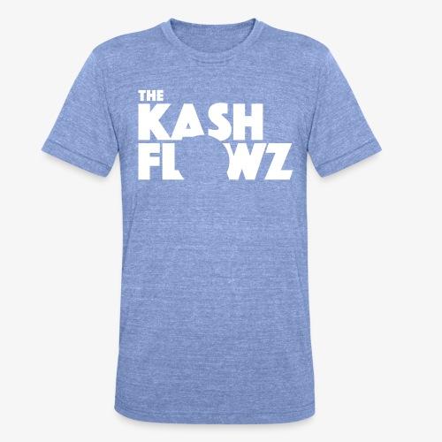 The Kash Flowz Official Logo White - T-shirt chiné Bella + Canvas Unisexe