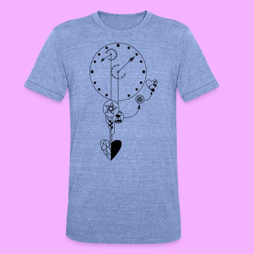 L'amour - T-shirt chiné Bella + Canvas Unisexe