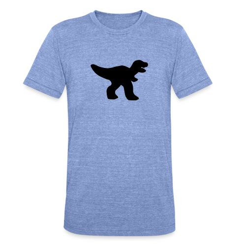 Dino small - Unisex Tri-Blend T-Shirt von Bella + Canvas