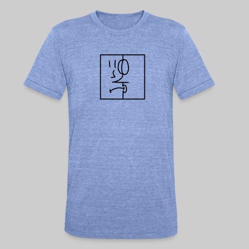 zwei Gesicht - Unisex Tri-Blend T-Shirt von Bella + Canvas