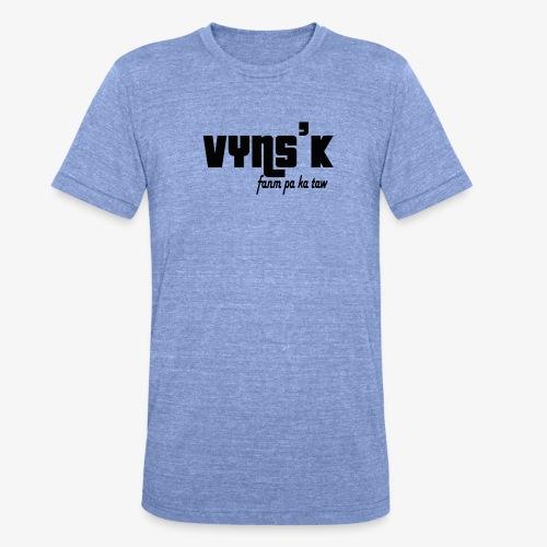 VYNS'K Fanm pa ka taw 2 - T-shirt chiné Bella + Canvas Unisexe