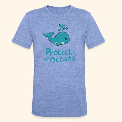 Protèges les océans - T-shirt chiné Bella + Canvas Unisexe