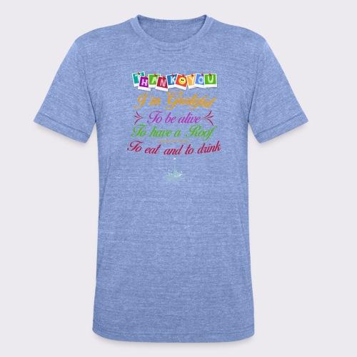 La reconnaissance. Merci - T-shirt chiné Bella + Canvas Unisexe