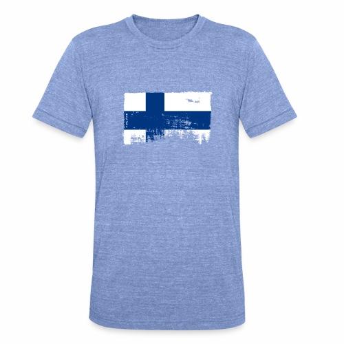 Suomen lippu, Finnish flag T-shirts 151 Products - Bella + Canvasin unisex Tri-Blend t-paita.