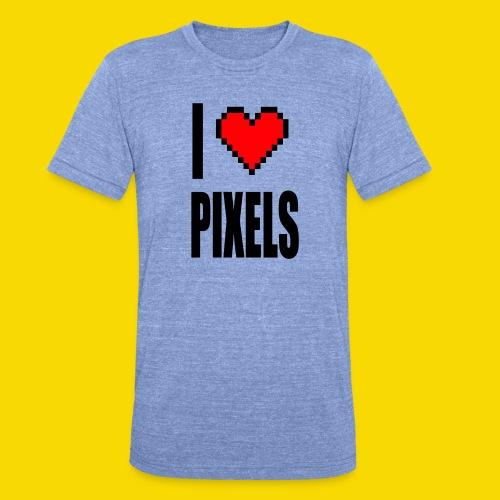 I Love Pixels - Koszulka Bella + Canvas triblend – typu unisex
