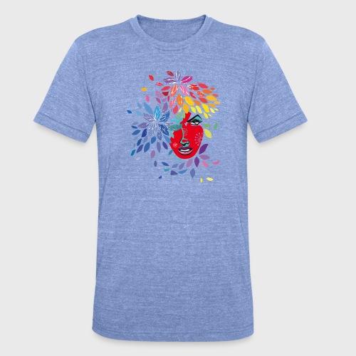 Femme cheveux de fleurs - T-shirt chiné Bella + Canvas Unisexe